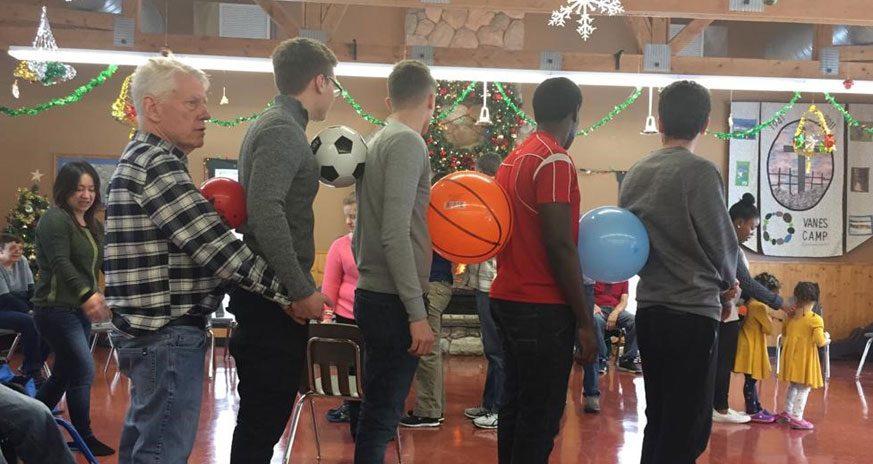 Games at the Christmas camp